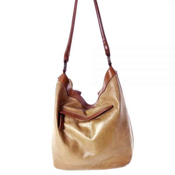back leather beige bag handmade and piece dyed manually