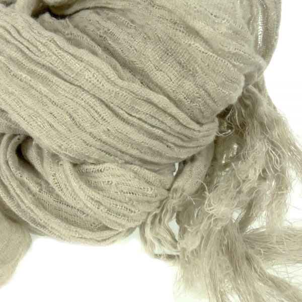 Handmade linen scarf beige