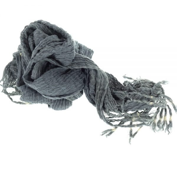 Handmade denim scarf in natural fabric