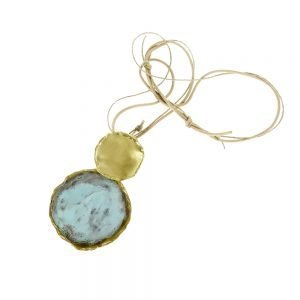 handmade necklace gold plated with oxidation treatment