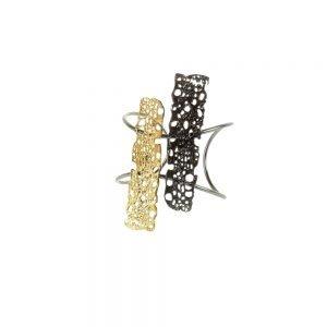 handmade bracelet gold plated and palladium