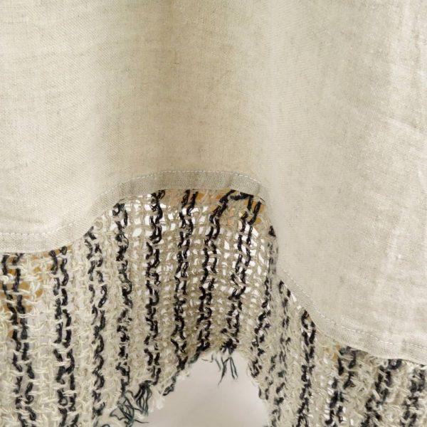 detail handmade linen dress for woman