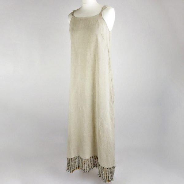 handmade linen summer sleeveless long dress for woman