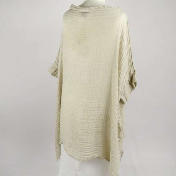 back handmade linen shirt with sleeves for woman