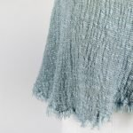 detail handmade linen top for woman