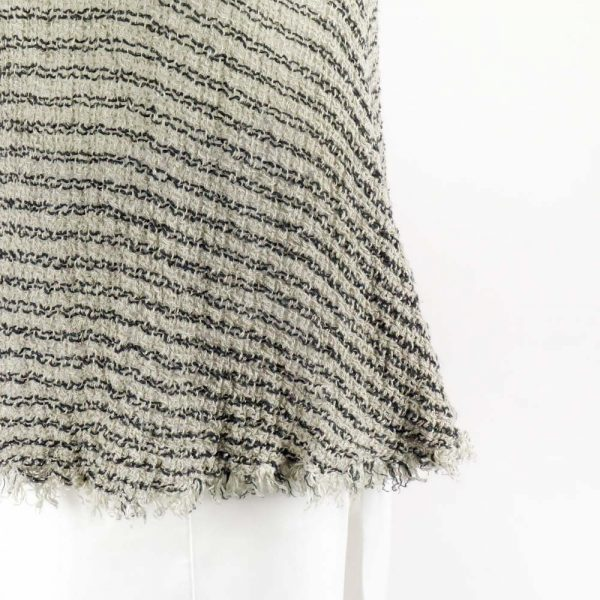 detail handmade linen top with stripes for woman
