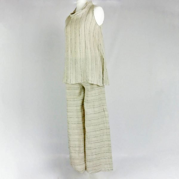 Handmade linen outfit for woman